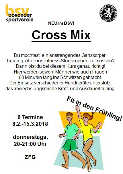 Cross Mix richtig